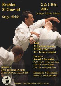 Stage d'Aikido à BESANCON avec Brahim SIGUESMI @ 25480 ECOLE VALENTIN