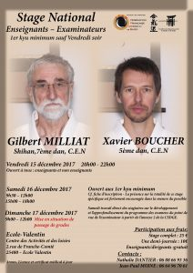Stage National Enseignants-Examinateurs @ 25480 ECOLE VALENTIN