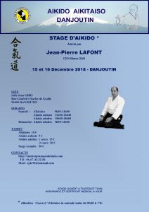 Stage Aïkido  avec Jean-Pierre LAFONT à DANJOUTIN (cours AikiTaiso 9h30 à 11h) @ 90400 DANJOUTIN
