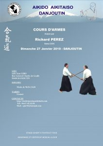 Stage Aikido Armes à DANJOUTIN le 27 Janvier 2019 @ Dojo Salle J. GIBOT