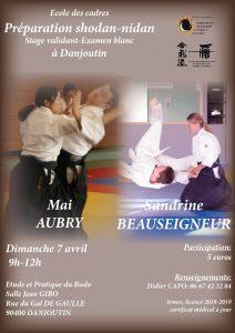 Stage Aikido Preparation 1 et 2 Dan @ DOJO salle Jean GIBO