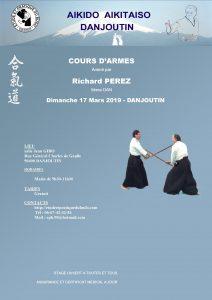 Stage Aikido Armes à DANJOUTIN le 17 Mars 2019 @ Dojo Salle J. GIBOT