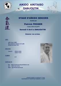 Stage Aikido Sénior à DANJOUTIN le samedi 4 Avril 2020 @ Dojo Salle J. GIBO
